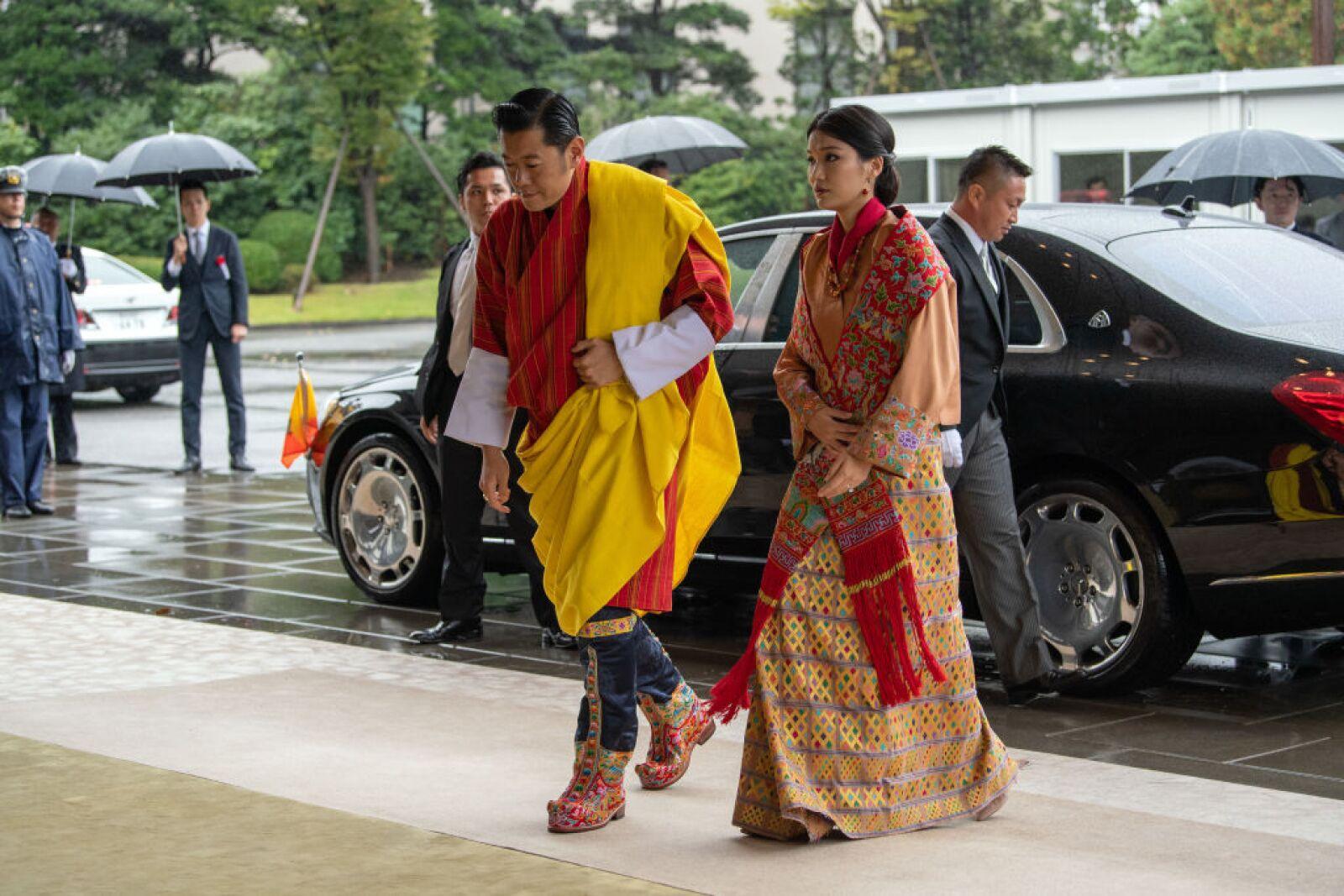 El rey Jigme Khesar Namgyel Wangchuck y la reina Jetsun Pema de Bután