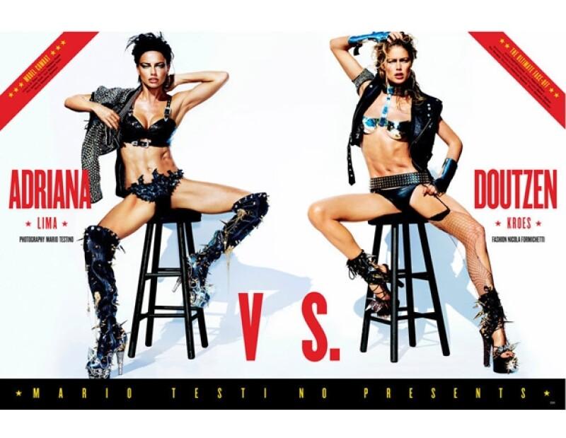 Las modelos de Victoria's Secret participaron en una sesión de fotos para una revista, en la que Mario Testino las enfrentó en una batalla muy sexy, ¿quién ganará?