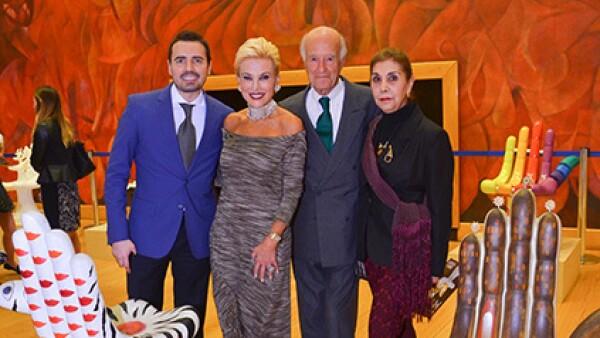 Los organizadores y anfitriones de la noche: Marco Ferrara, Raquel Bessudo, Pepe Carral y Alicia Pinal