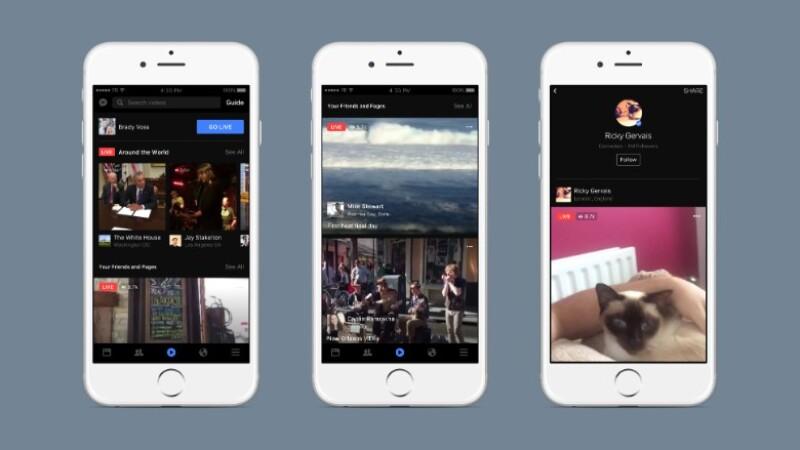 Facebook está apostando por los videos en vivo de sus usuarios.