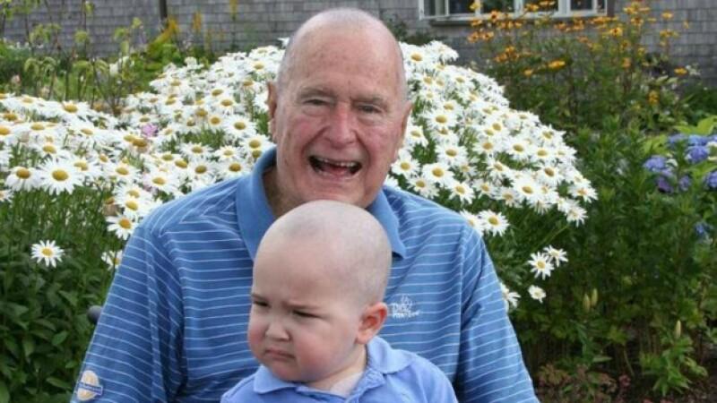 bush foto bebe leucemia
