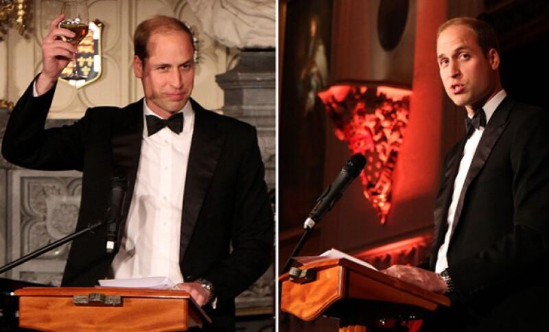 El duque de Cambridge hizo un stop a sus deberes familiares para asistir a un evento de caridad en el castillo de Windsor.