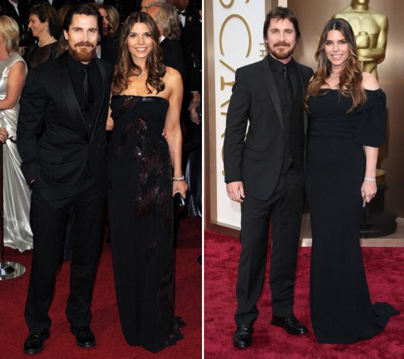 Christian Bale en 2011 y en 2014.