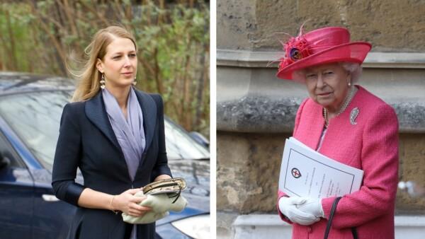 Lady Gabriella y la reina Isabel II