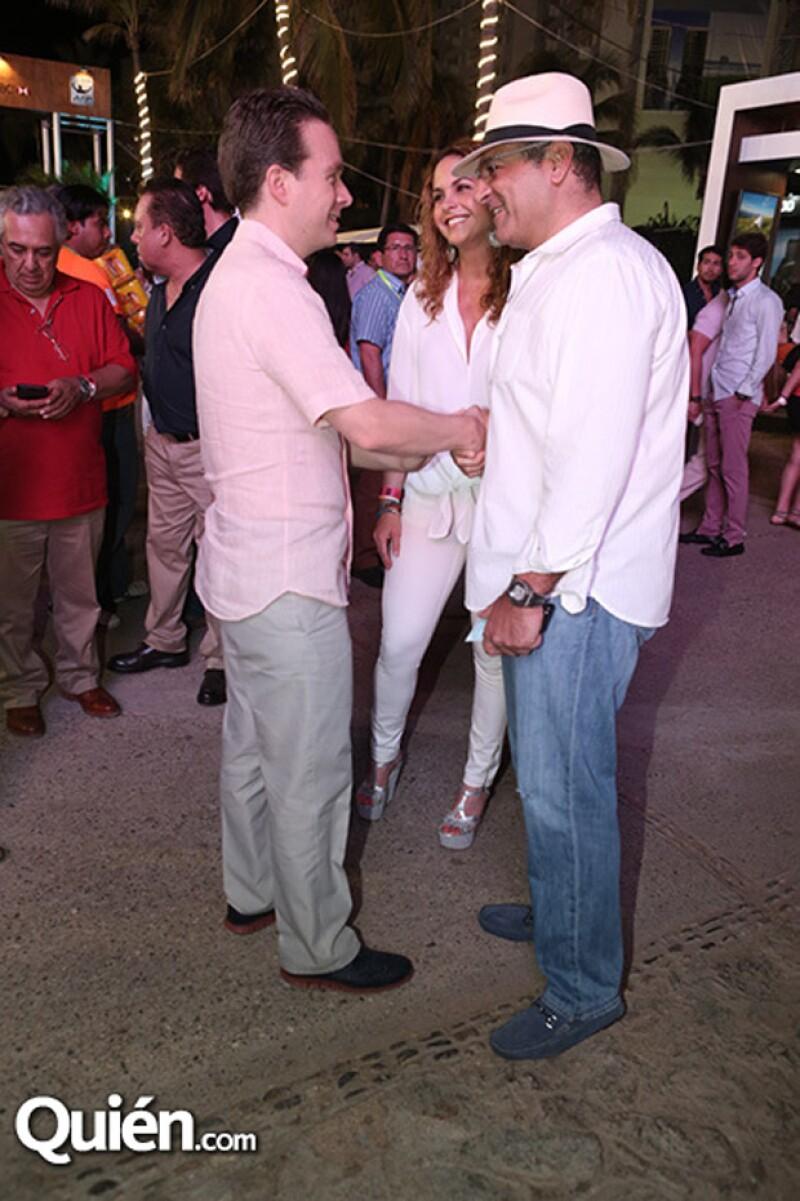 Lucero y Michel Kuri se encontraron al prometido de Anahí en el evento deportivo.