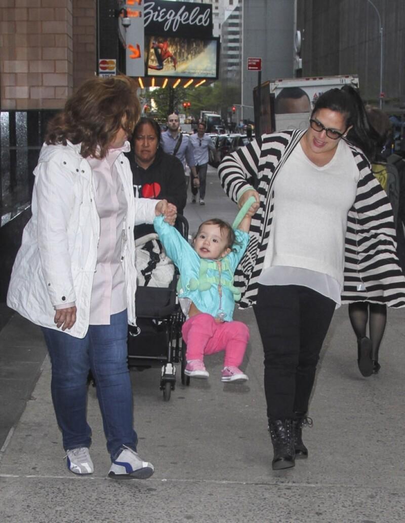 Angélica Masiel fue quién más disfrutó su paseo por Nueva York.