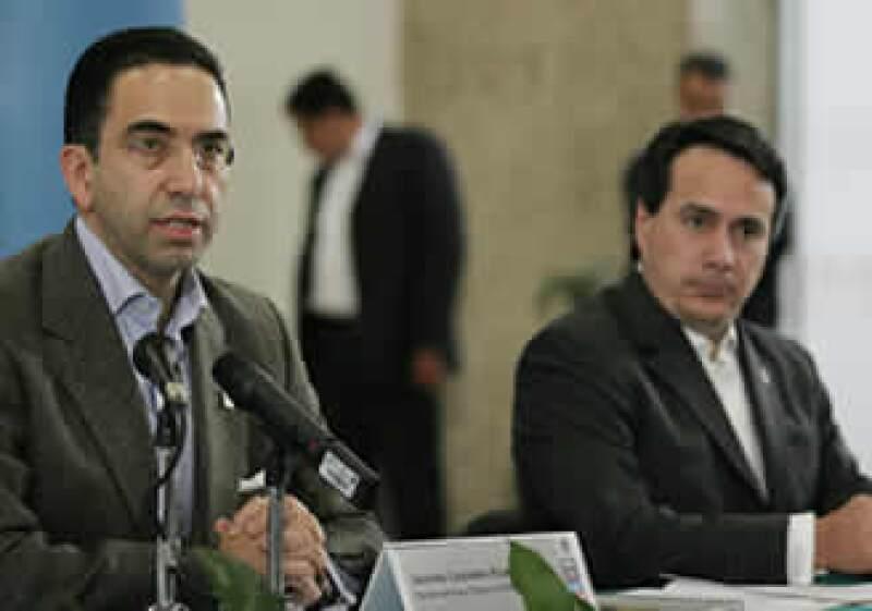 Lozano y Ruiz Mateos hablaron de las opciones para los ex trabajadores de la paraestatal. (Foto: Notimex)
