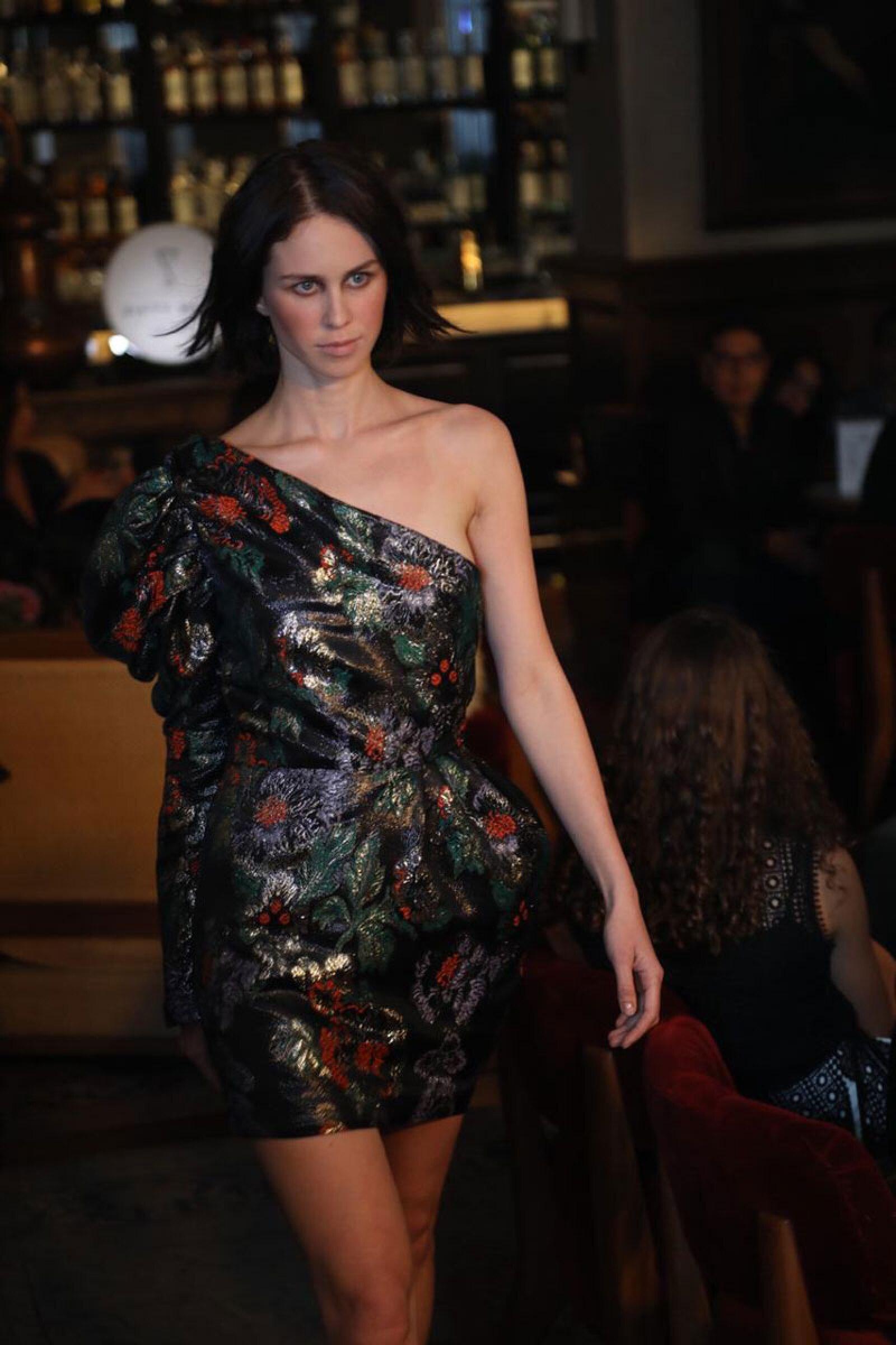 Sandra-Weil-MBFWMX-Runway-Floral-Short-Dress