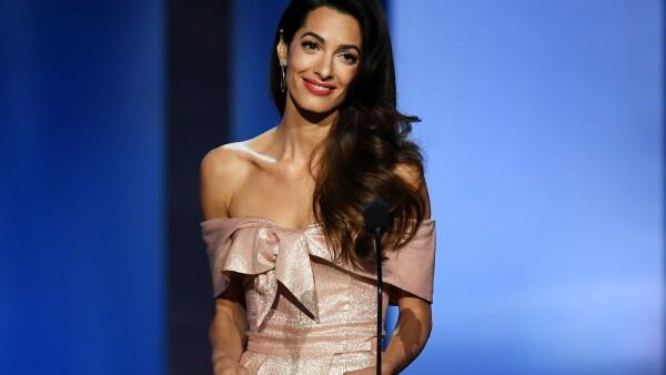 George Clooney se conmueve hasta las lágrimas  con el discurso de Amal