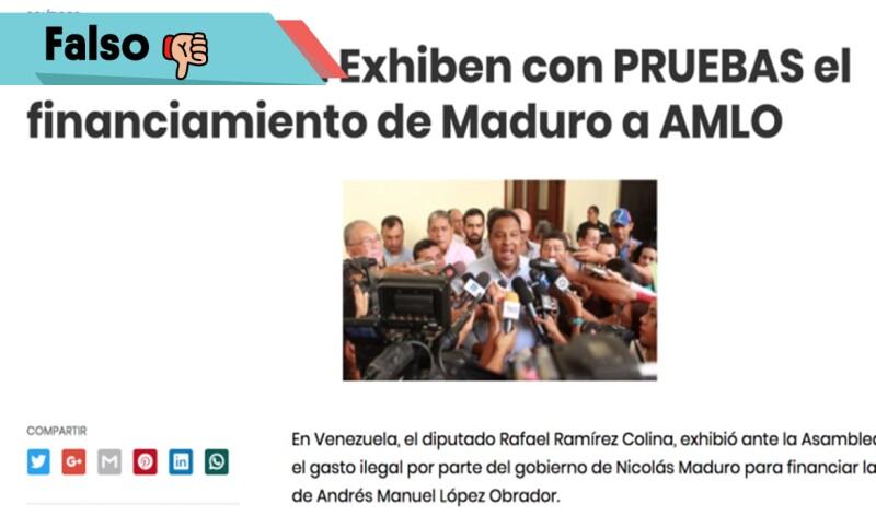 El #falso comunicado que revela el apoyo de Maduro a AMLO