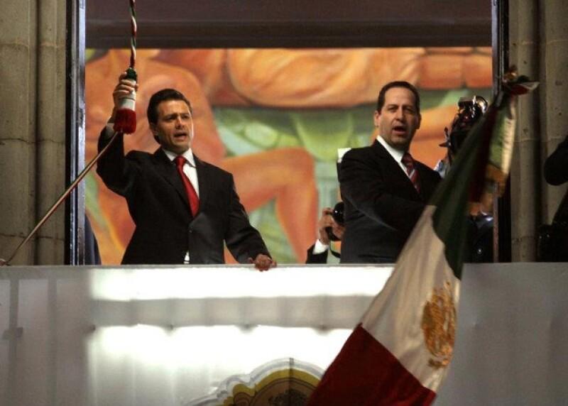 Peña Nieto y Eruviel Ávila compartieron el festejo de la conmemoración del 201 aniversario de la Independencia de México.