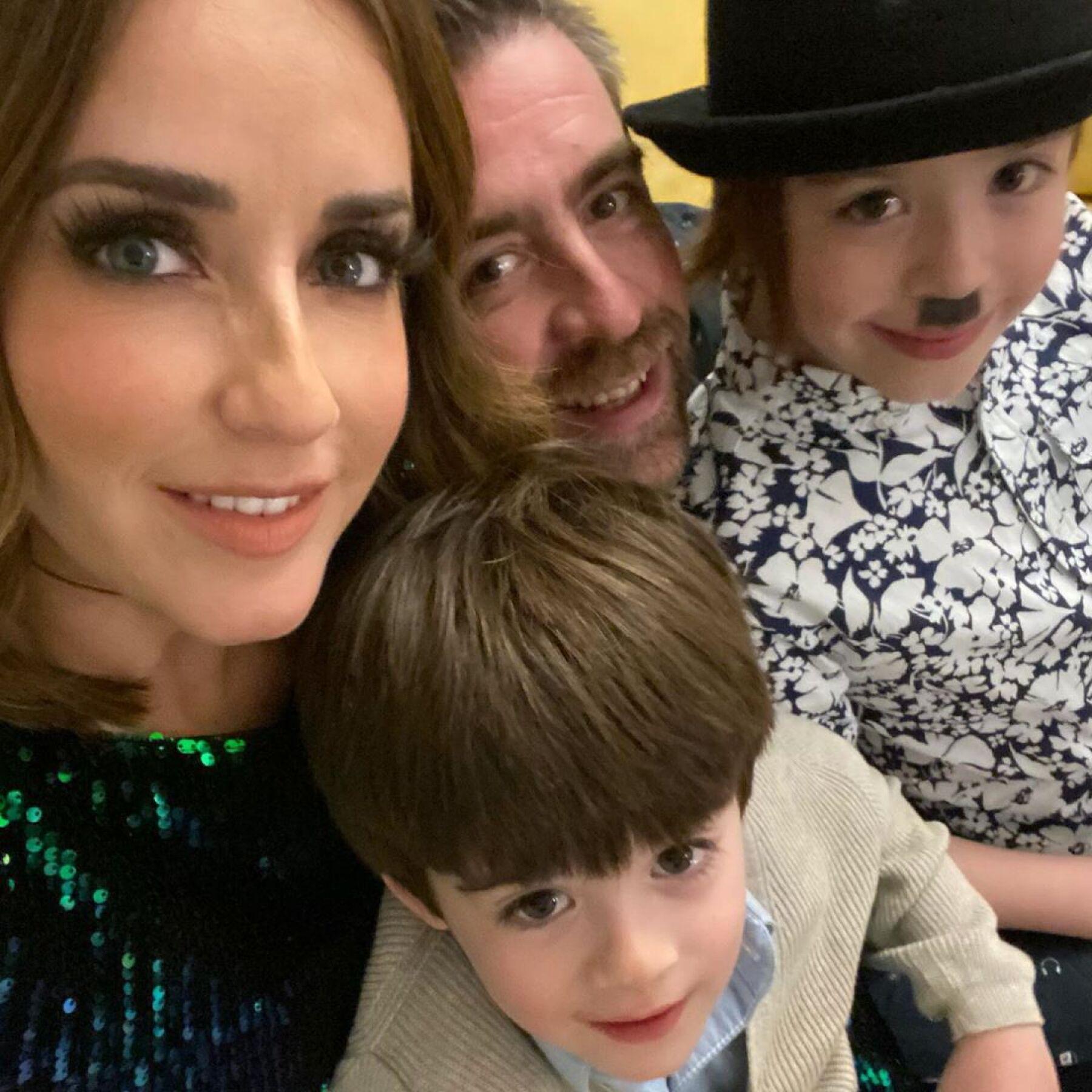 Jimena Pérez 'La Choco', Rafa Sarmiento y sus hijos Iker e Iñaki