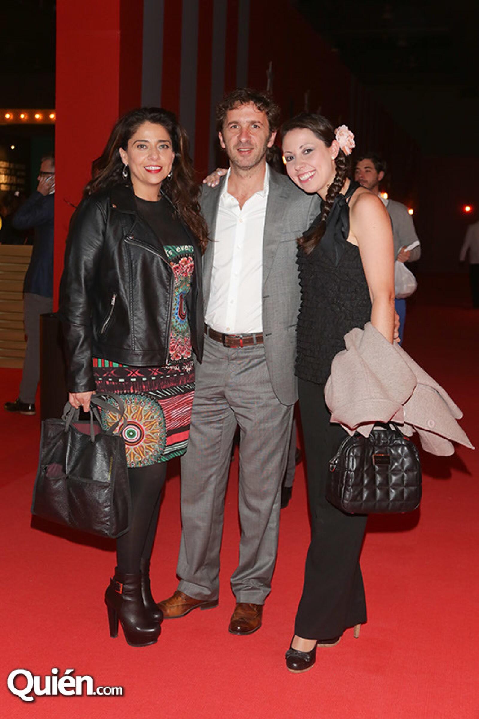 Maricarmen López, Miguel Pilipiak y Jessica Herrera