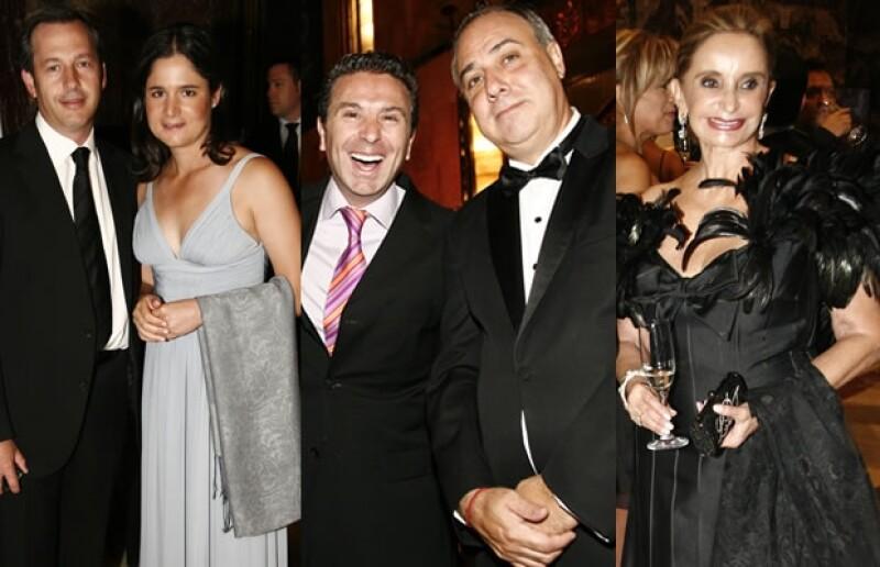 Andrés Conesa, Lorena Ochoa, Rafa Micha, Jorge Puentes y Lorenza Dipp disfrutando de la cena de gala Montblanc.