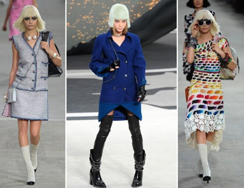 Cara ha estado en varias pasarelas de la casa de moda francesa.