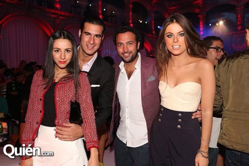 Chantal Torres, Miguel Torruco, Daniel Cohen y Yael Sandler
