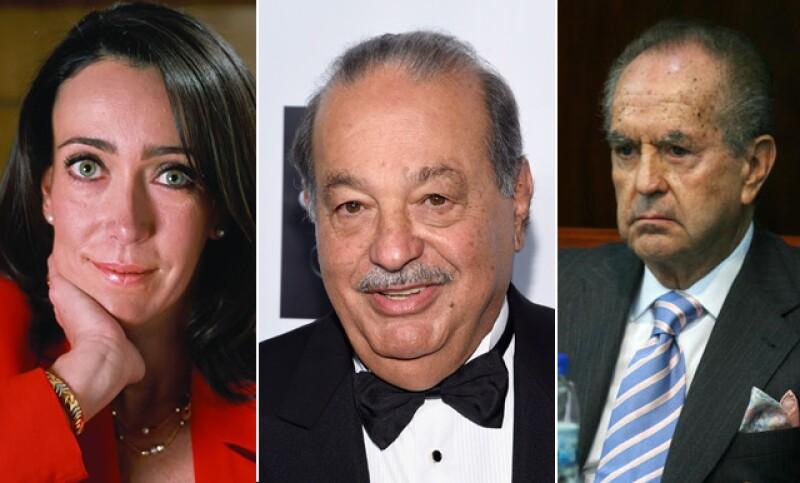 María Asunción Aramburuzabala, Carlos Slim y Alberto Baillères González son tres de los empresarios mexicanos en ocupar la lista de Forbes.