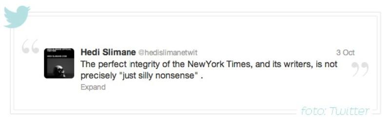 `La perfecta integridad del New York Times, y sus escritores, no es precisamente algo tonto´