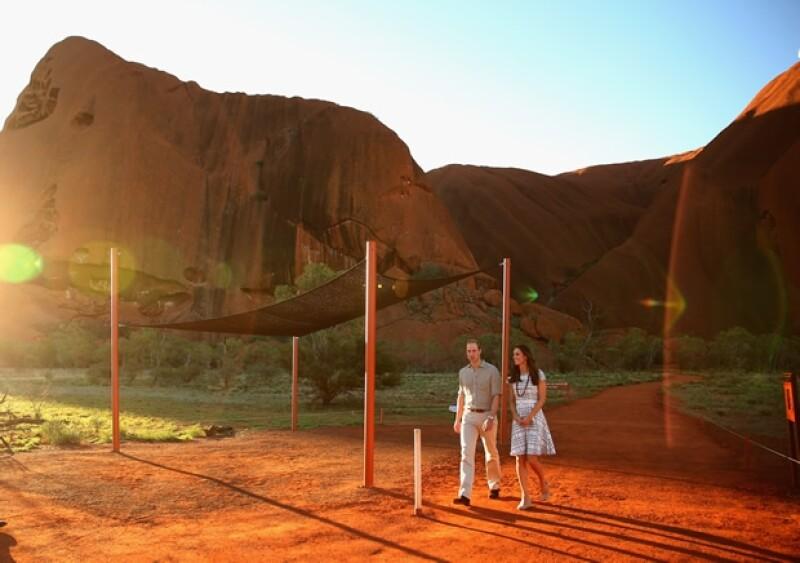 Guillermo y Kate pudieron disfrutar de una espectacular puesta de sol.