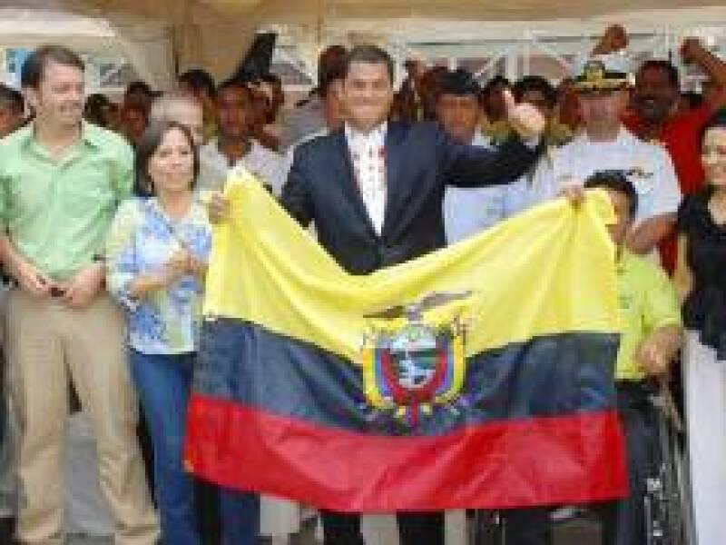 El presidente ecuatoriano dijo que ganar en primera vuelta es algo extraordinario. (Foto: Reuters)