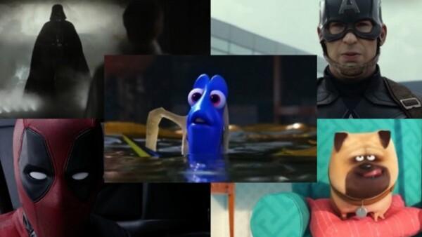 La cinco películas más taquilleras del 2016 en EU