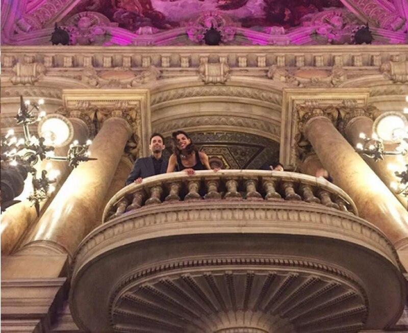 Bárbara y Alejandro en el Palais Garnier.