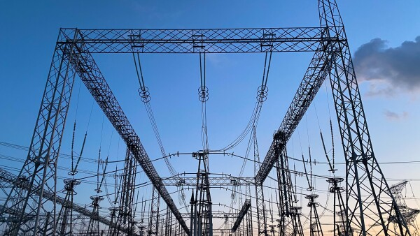 electric transmission lines. Electricity. Energy industry.