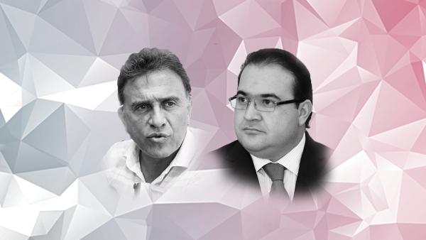 candidato del PAN-PRD y el gobernador, Javier Duarte, se acusan mutuamente de enriquecimiento y lavado de dinero.