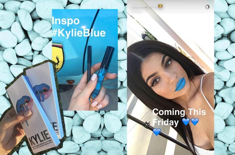 """""""Skylie"""" es un color azul brillante, muy atrevido."""