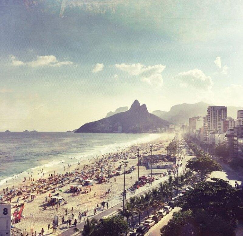 Ahora la pareja se encuentra en Copacabana, Brasil.