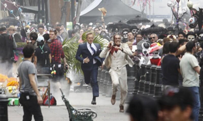 El Agente 007 estuvo en la Ciudad de México para grabar parte de sus aventuras. (Foto: Cuartoscuro )