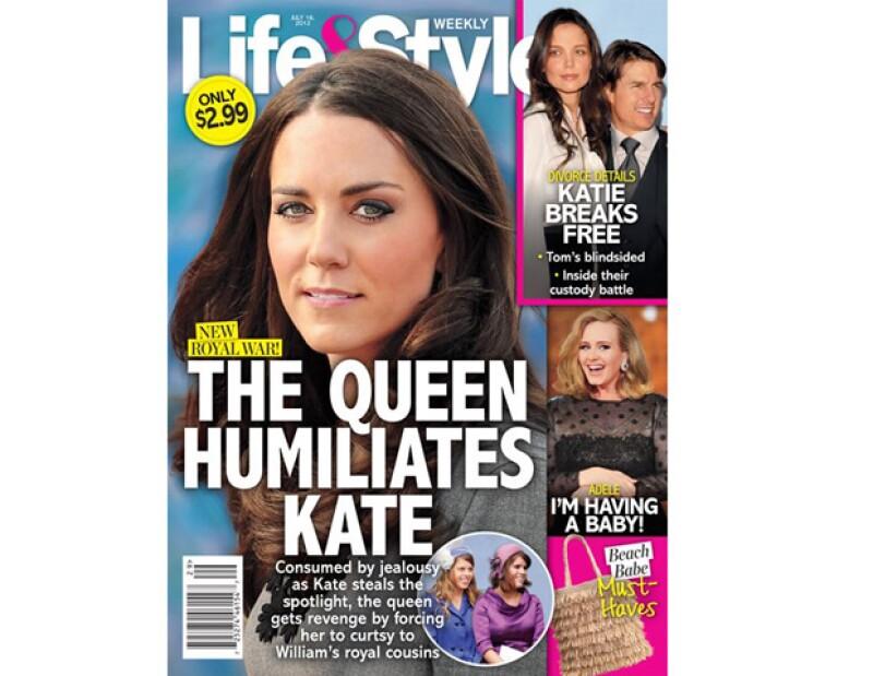 Aseguran que la monarca se encuentra muy molesta con la esposa de su nieto el Príncipe Guillermo por quitarle protagonismo en su Jubileo.