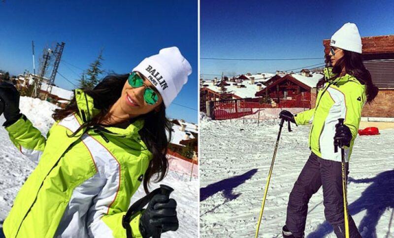 Esquiar sobre la nieve, irse de shooping y otras múltiples acitivades son las que muestran en su vida de opulencia.