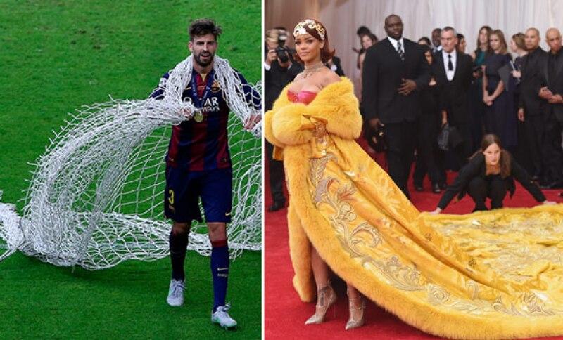 E incluso fue comparado con Rihanna, por la manera de llevar tanto el vestido, como la red de la portería.