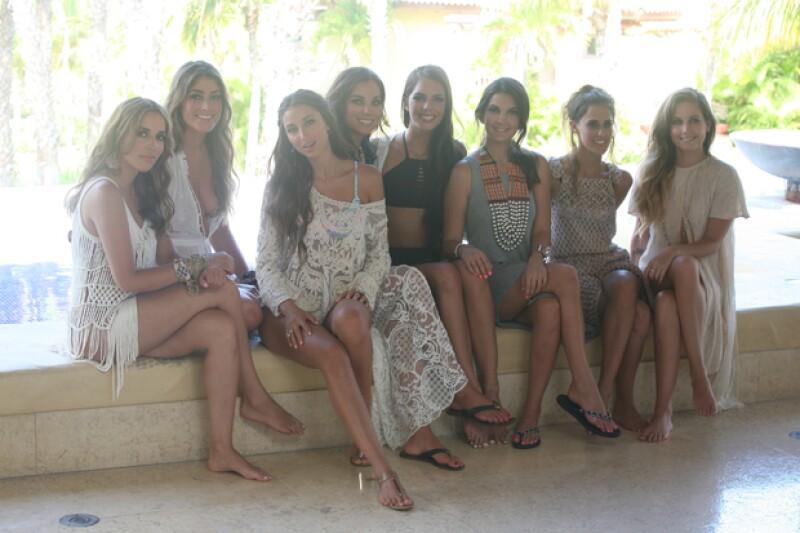 Bárbara Ruesga, Alexandra Burillo, Sofía Sisniega, Claudia Gutiérrez, María Levy, Pamela López, Alejandra Begun y Natasha Dupeyron.