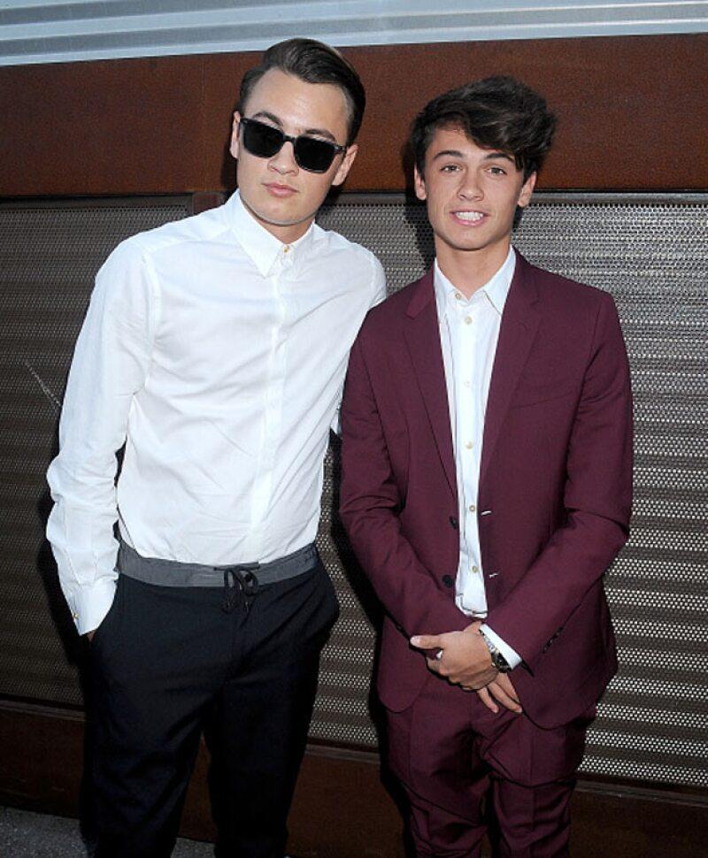 Brandon Thomas y Dylan Jagger son los dos desconocidos y guapos hijos que Pamela Anderson tuvo con Tommy Lee.