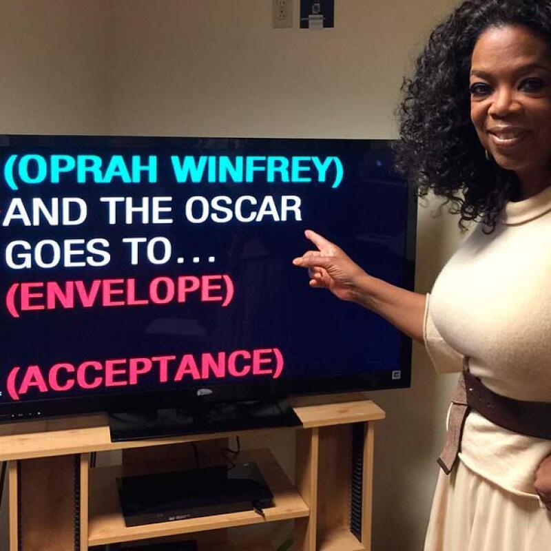 Oprah también asistió a los ensayos para los Oscar.