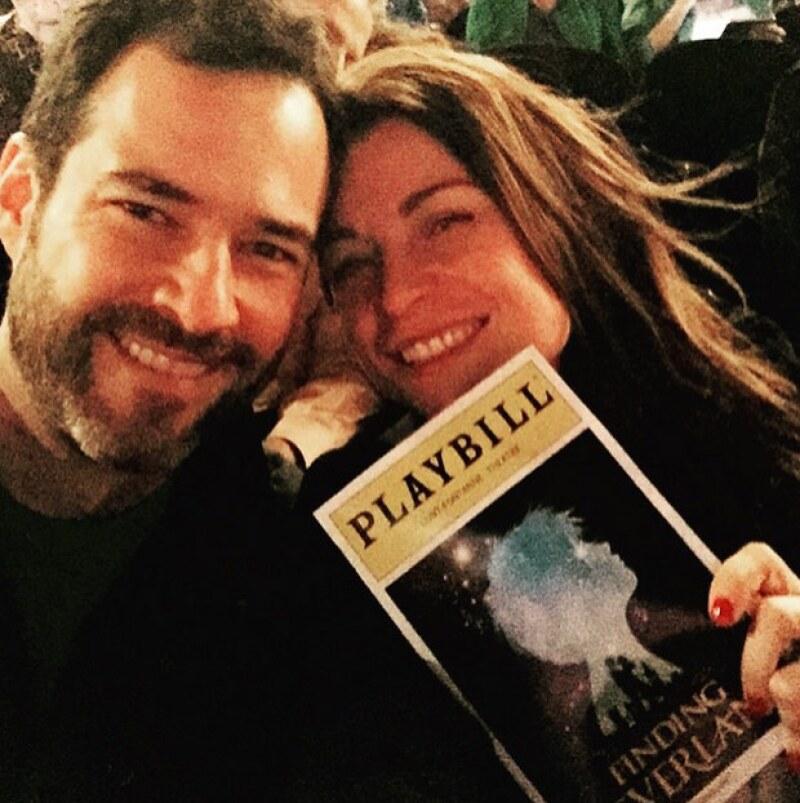 Ludwika aprovechó el viaje a Nueva York para asistir con su esposo Emiliano Salinas a una obra de teatro.