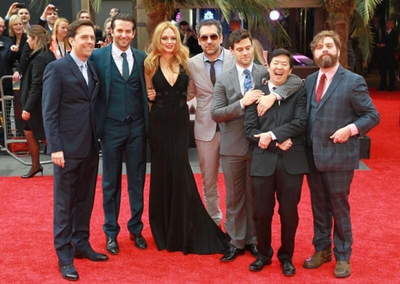 El elenco de la tercer parte de `Hangover´se reunió en Leicester Square, Londres para la premiere europea de la cinta.