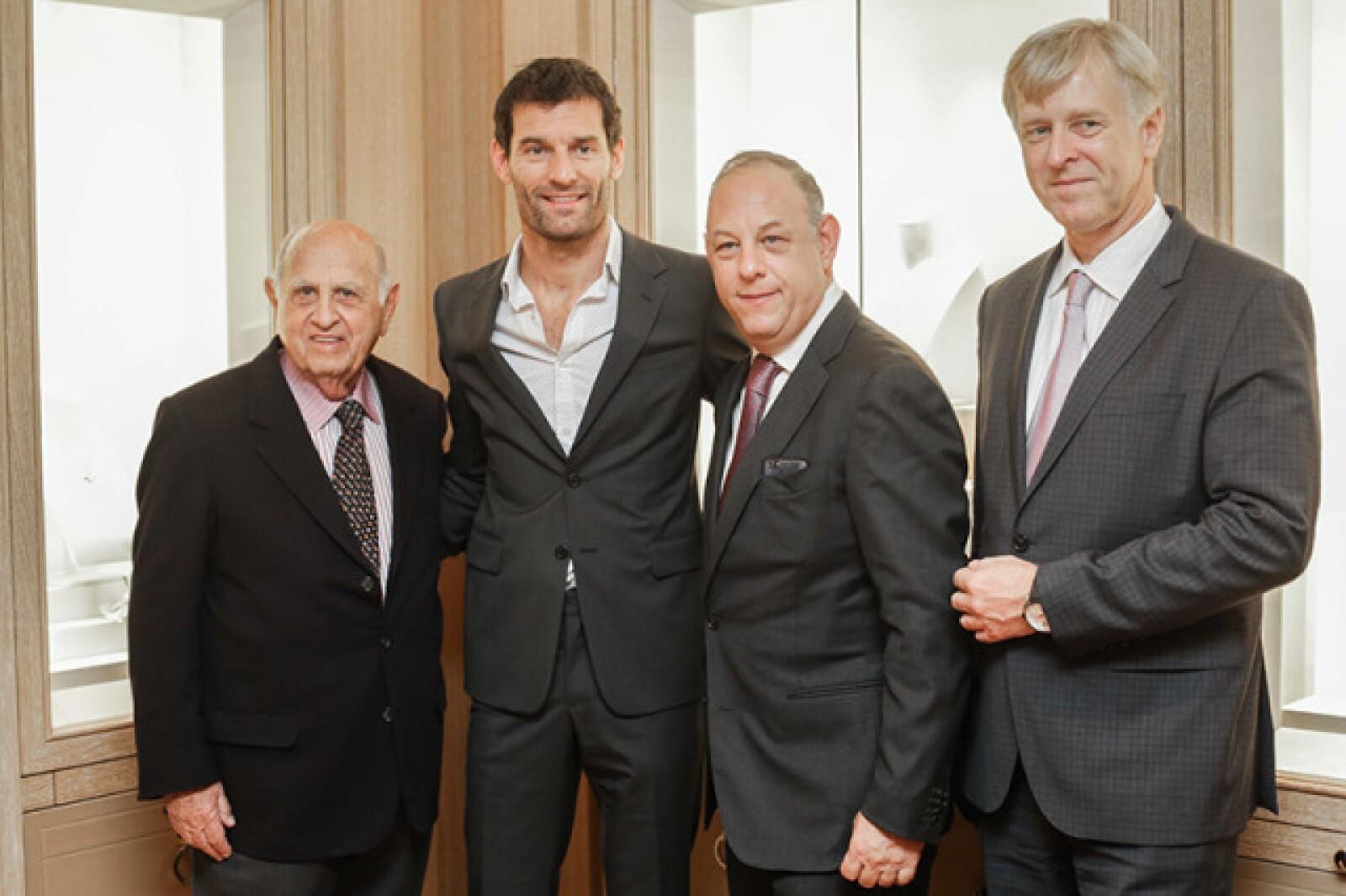 Mauricio Berger,Mark Webber,Ari Berger y Rudolph Lang