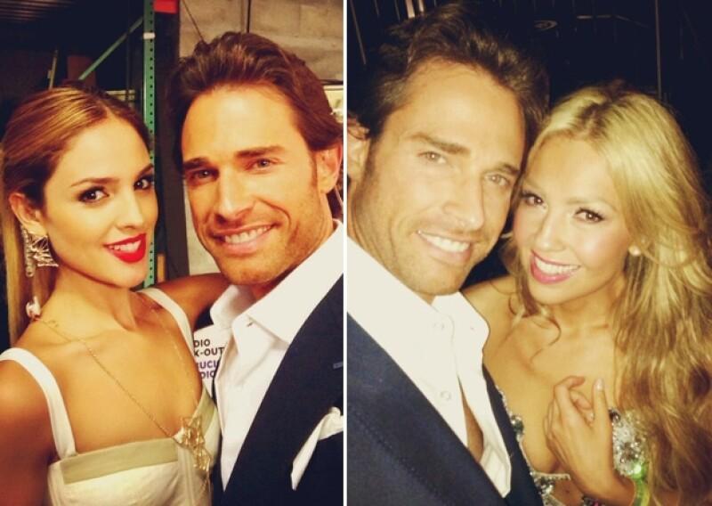 Sebastián Rulli compartió sus fotos a lado de estas dos bellezas.
