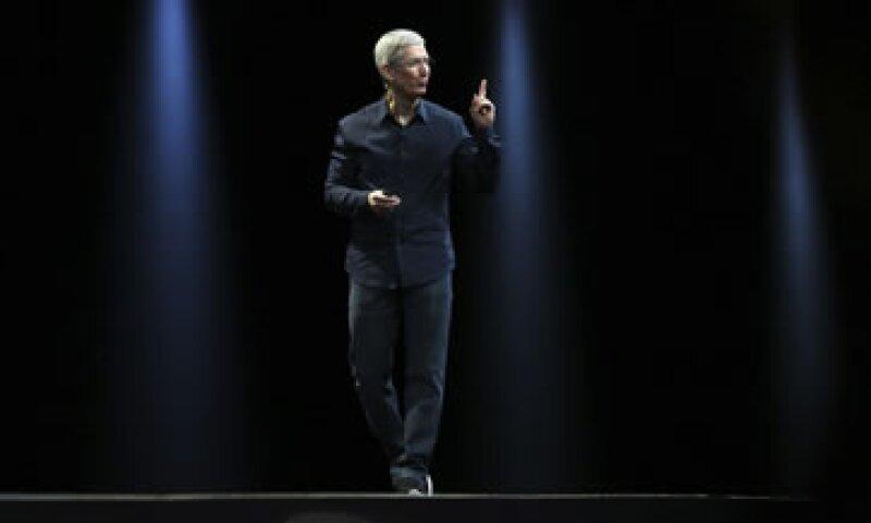 Tim Cook encabezó el evento de Apple de este lunes. (Foto: Reuters)