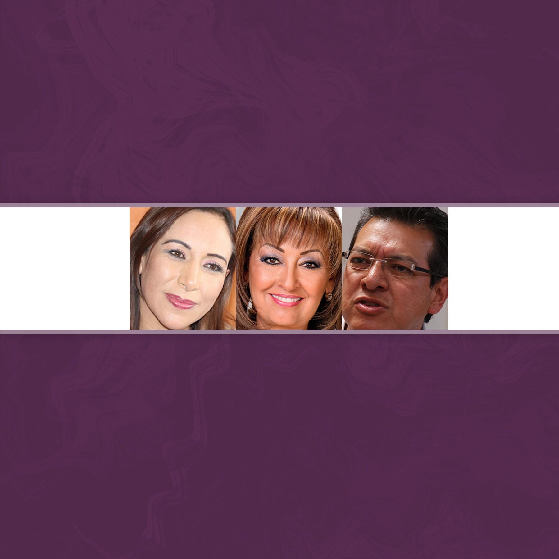 Adriana Dávila, Lorena Cuéllar y Marco Mena.
