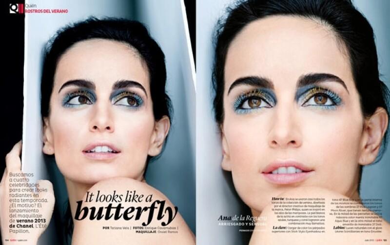 Ana de la Reguera es una de las celebs que posaron con las nuevas tendencias de maquillaje para este verano.