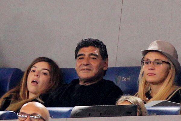 Maradona y Rocío Oliva