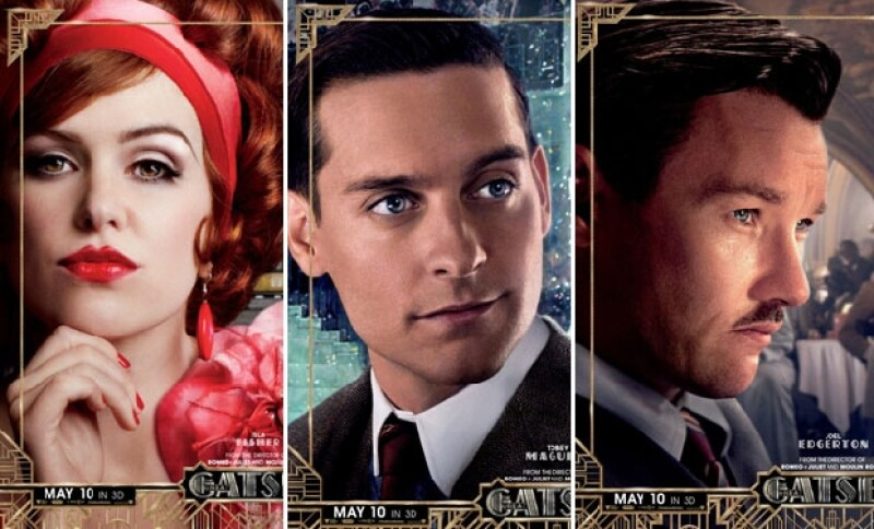 Una guía de cine libanesa reveló en exclusiva seis posters de los protagonistas de la esperada película: Leonardo DiCaprio, Carey Mulligan, Tobey Maguire, Isla Fisher, Elisabeth Debicki y Joel Edger.