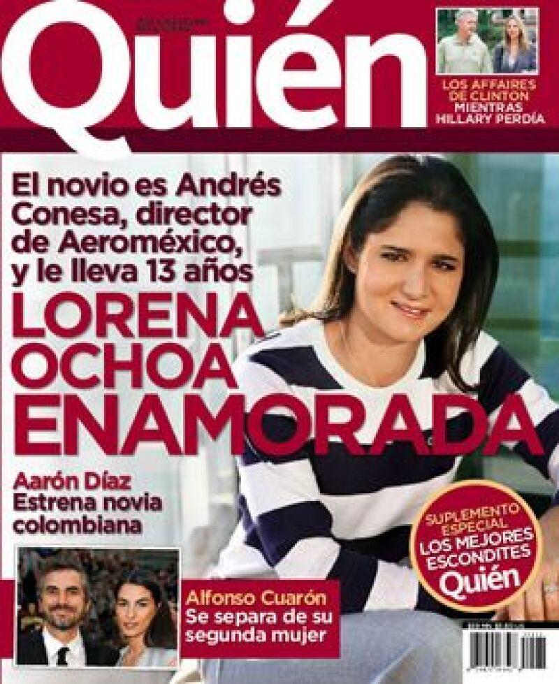 La portada de la revista Quién en donde se dio a concer el noviazgo se publicó en junio del 2008.