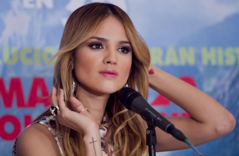 Eiza González este jueves durante la presentación de `The Croods´.