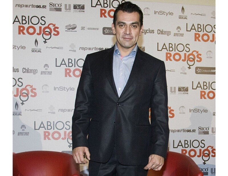 El actor mexicano está de estreno con la película Labios Rojos, en donde protagonizó a un hombre con problemas sexuales.