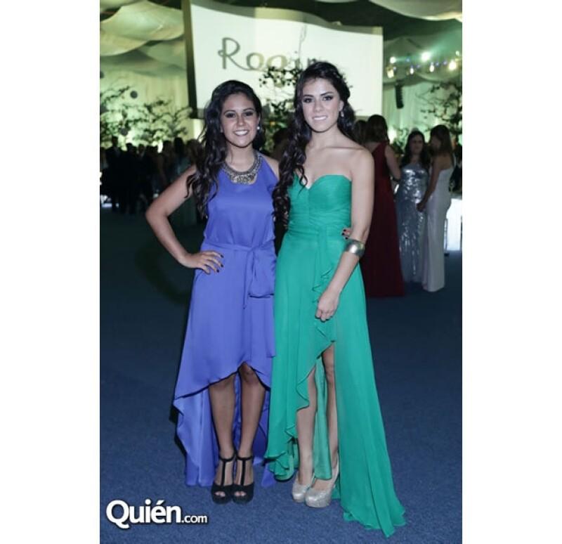 La hija del presidente de la República brilló por su presencia y estilo para la elegante ocasión. En la foto, Pilar Sosa y Paulina Peña.